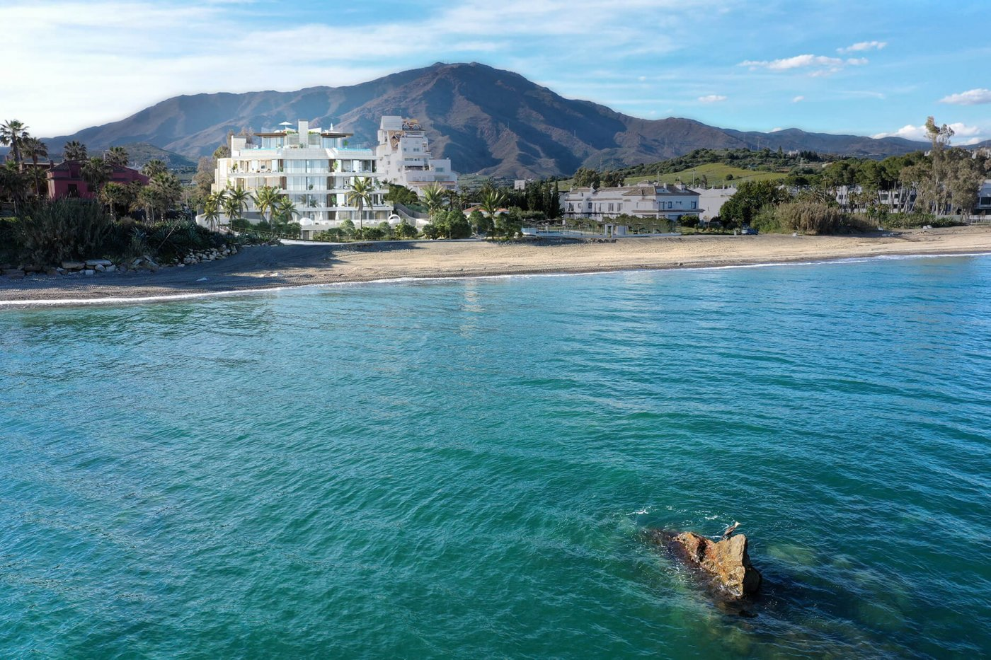 New apartment in the first line from the sea, Estepona