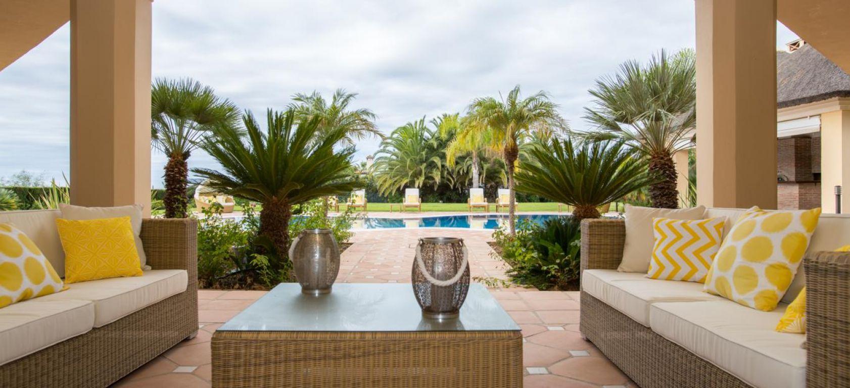 Beachfront villa,La Chapas, Marbella.