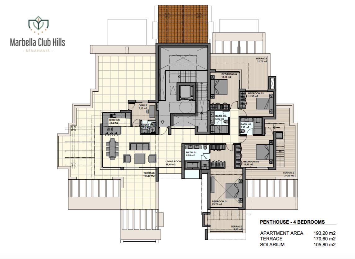New ground floor duplex in Marbella Club Hills, Benahavis.