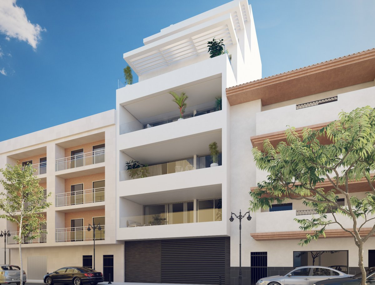 Modern luxury apartments in beach front in Estepona.
