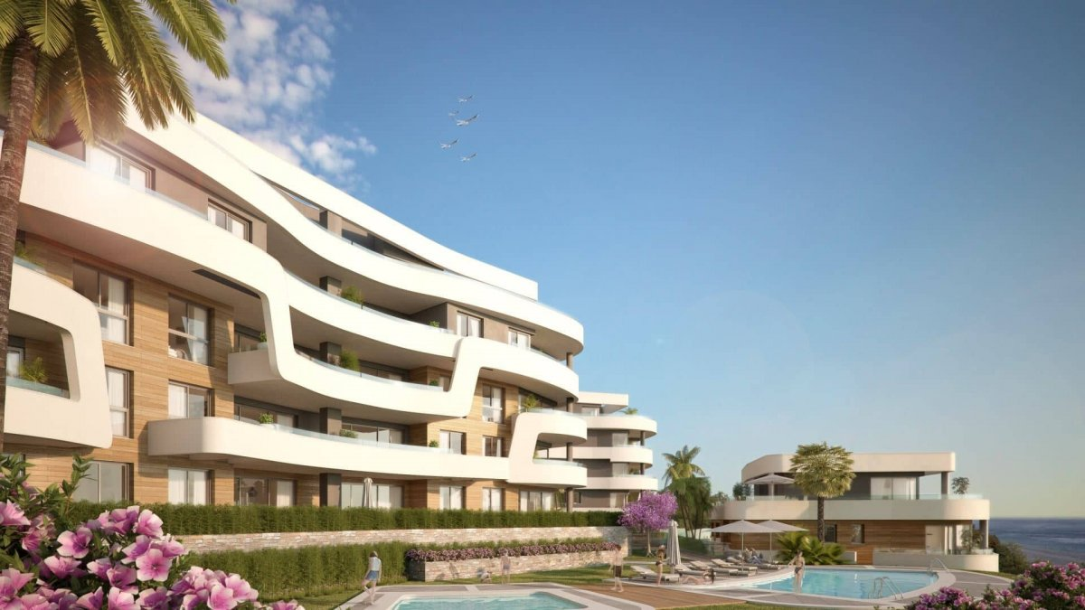 Luxury South facing penthouse on the first line of the beach in Mijas Costa
