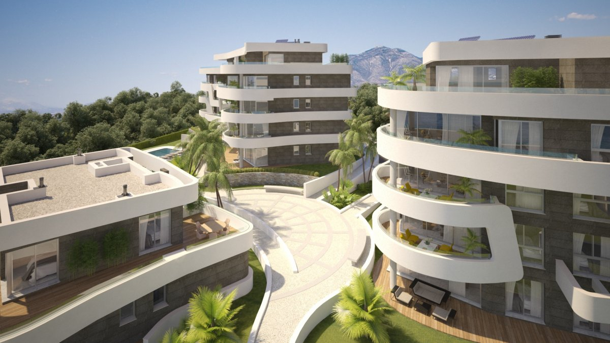 Luxury South facing apartment on the first line of the beach in Mijas Costa