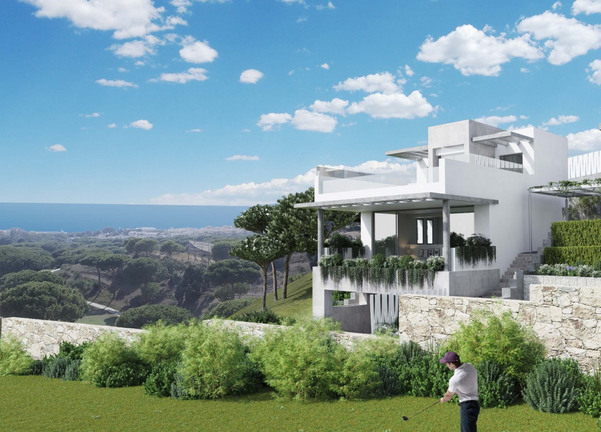 New Semi-detached house with sea and golf views in Cabo Pino, Marbella