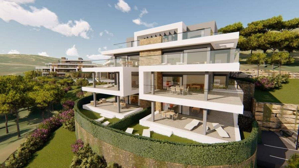 New penthouse apartment with unobstructed views across a beautiful natural valley in Selwo, Estepona