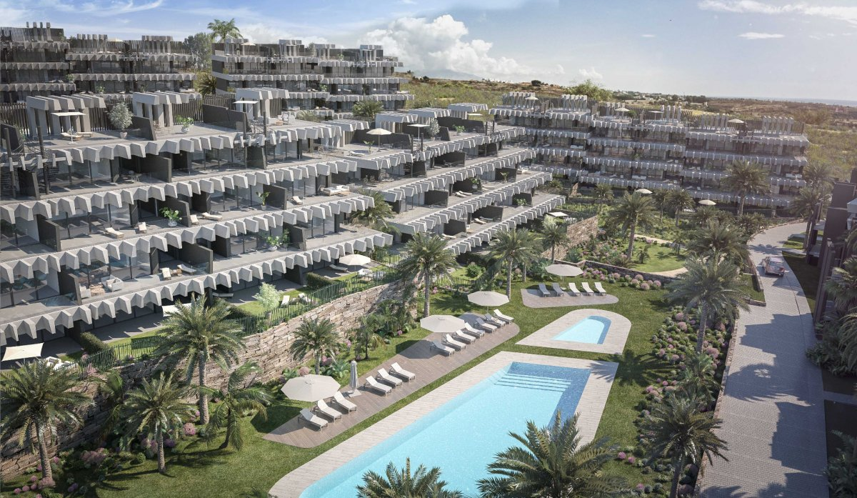 Bright apartment with large terrace between Estepona and Marbella