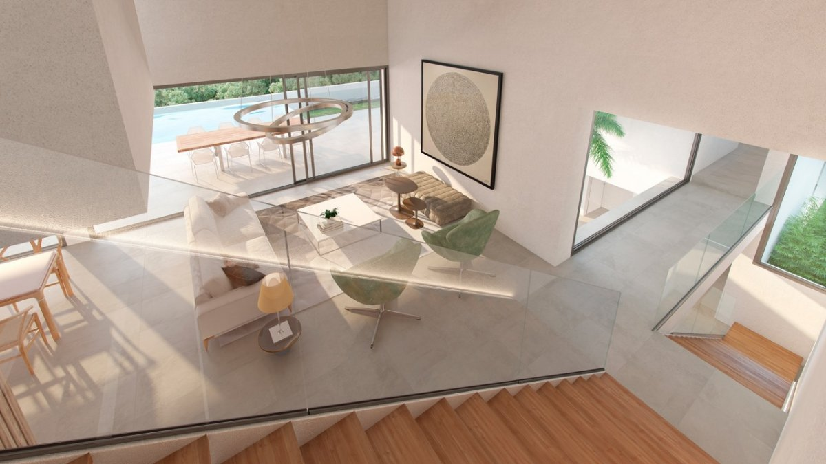 New modern villa with open sea views to the sea an golf courses in Los Flamingos, Benahavis