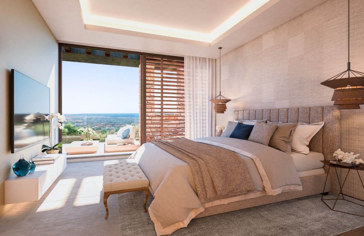 Unique suistanable villa in the heart of golf country with fabulous sea view in Alqueria, Benahavis