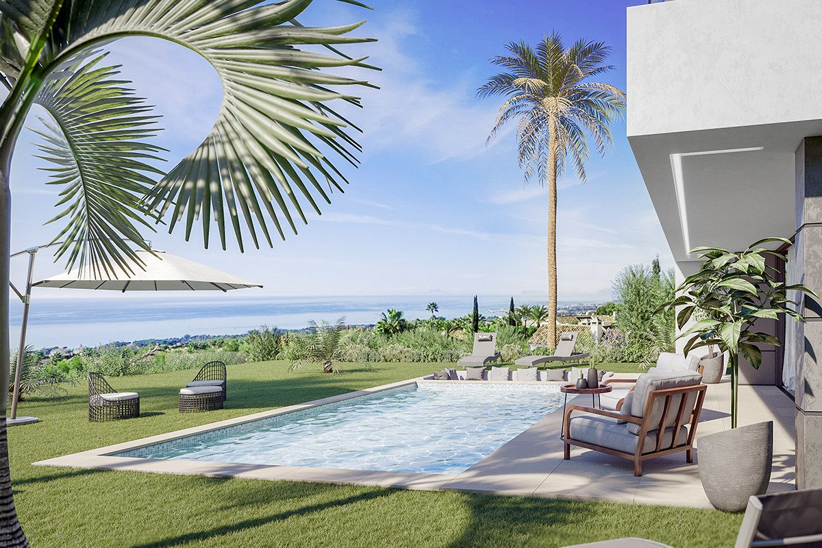 Contemporary sea view villa with a short  distance to the beach in Manilva