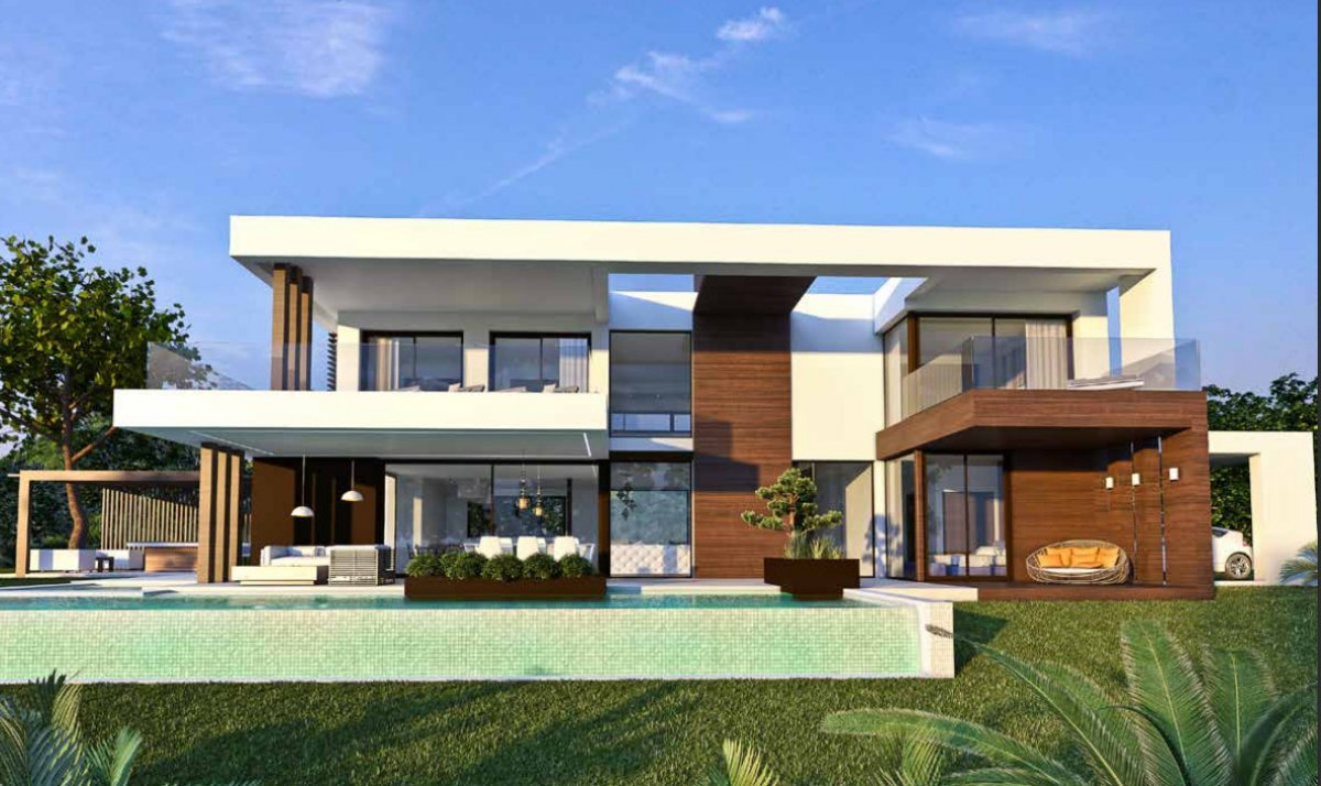 Project of 13 Luxurious and Modern Villas under Construction in Cancelada
