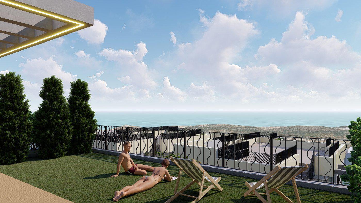 Villas de obra nueva con vistas al mar situadas en Polop