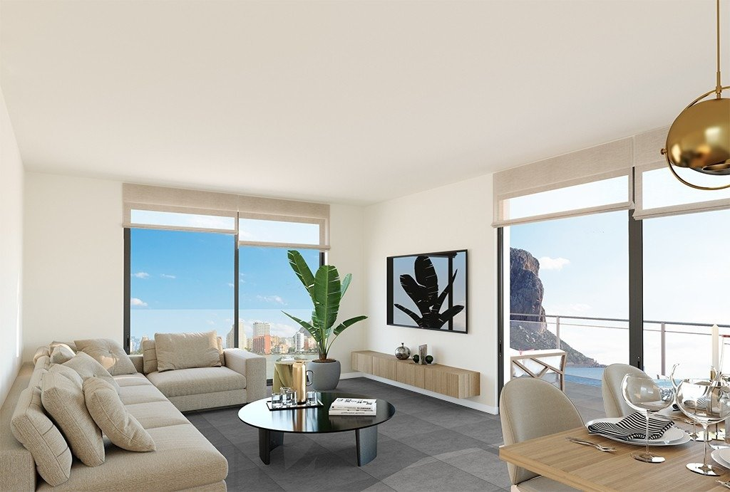 Apartamento duplex con vistas al mar en Calpe