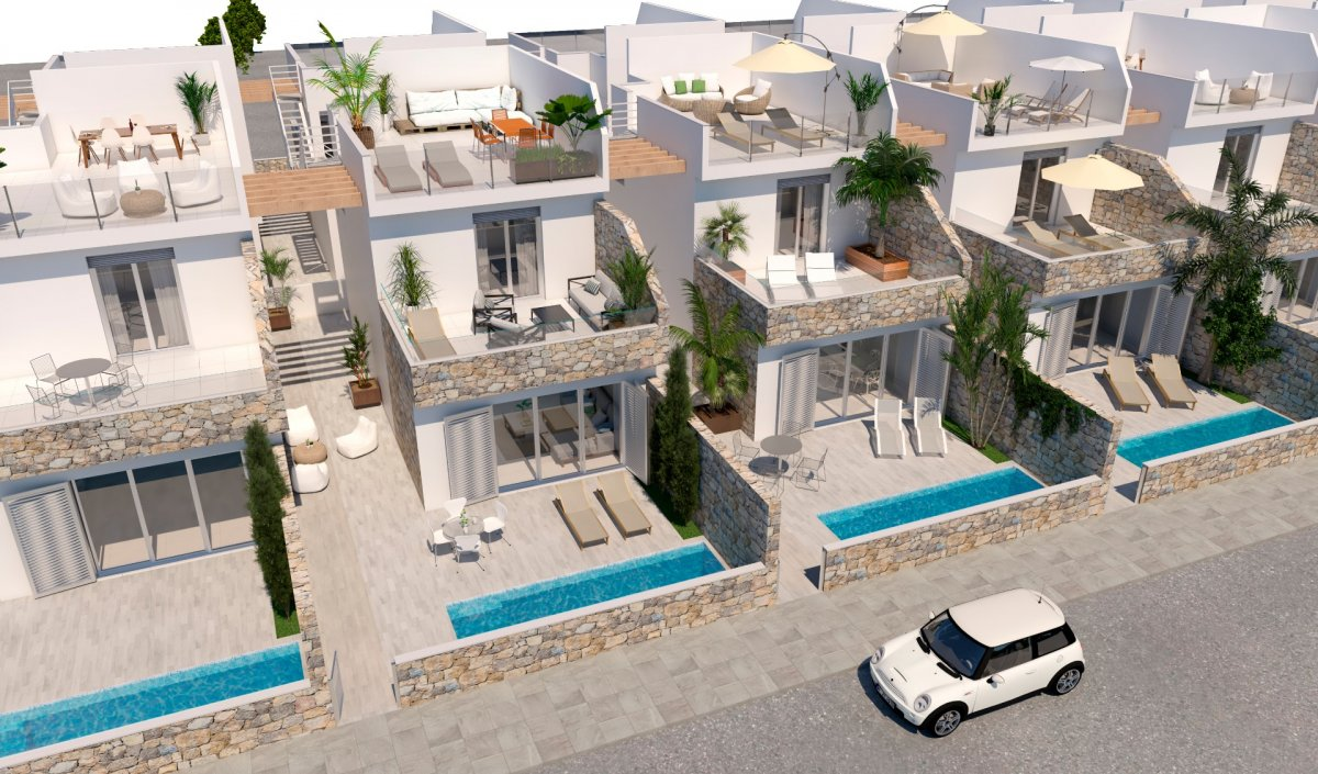 Villas independientes con piscina a 400 metros de la playa - Keysol Property S.L.