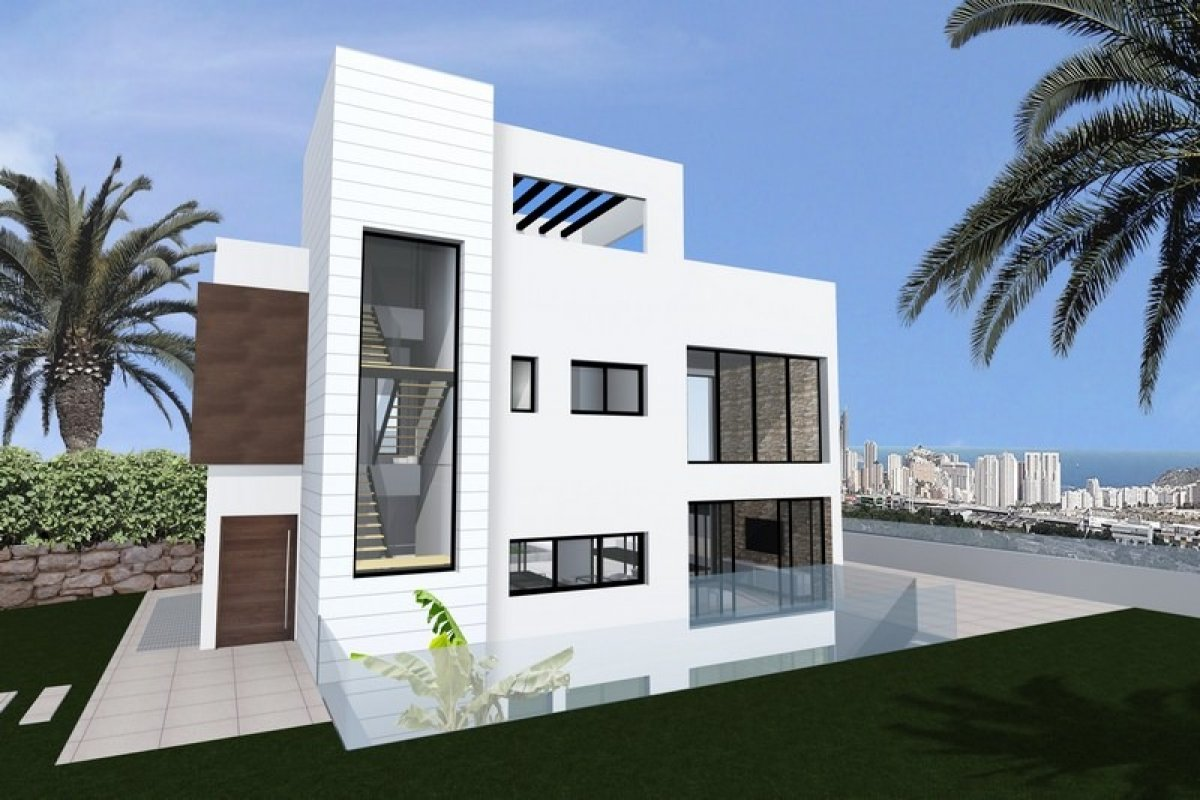 Detached Villa with garage and 32m2 pool in Finestrat - Keysol Property S.L.