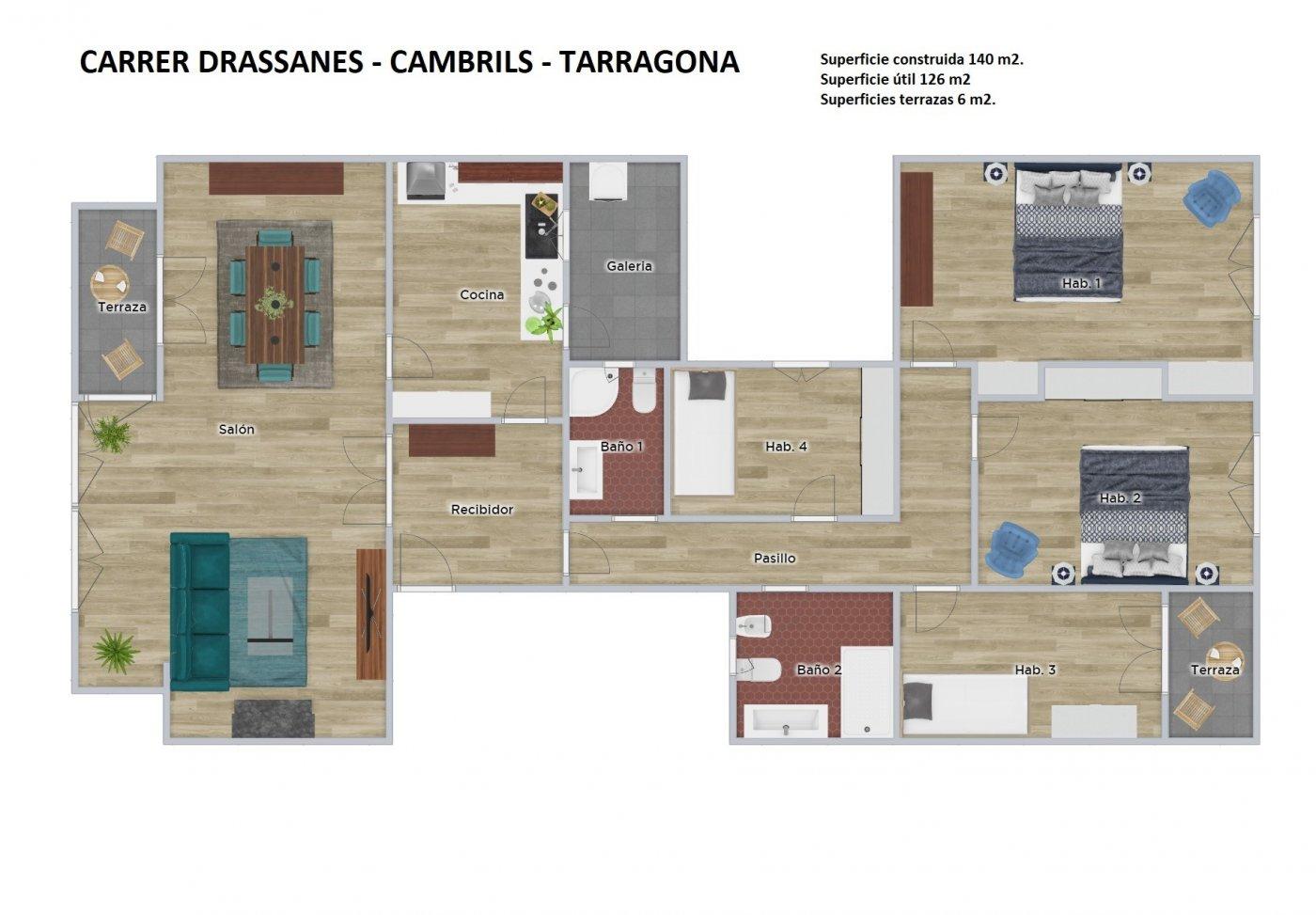 Piso 4 habitaciones en cambrils - imagenInmueble19
