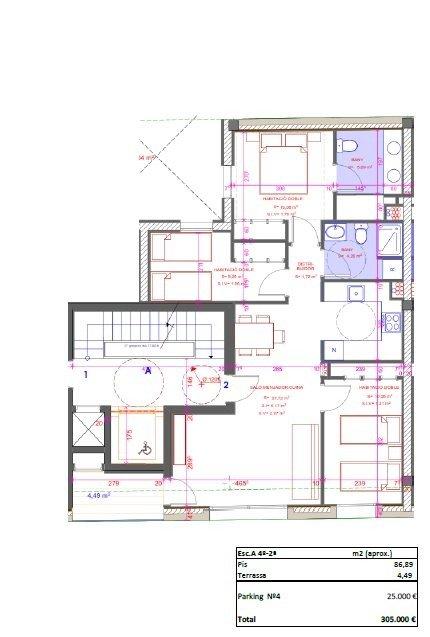 Pis d'obra nova de 3 habitacions al centre amb opció a pàrquing
