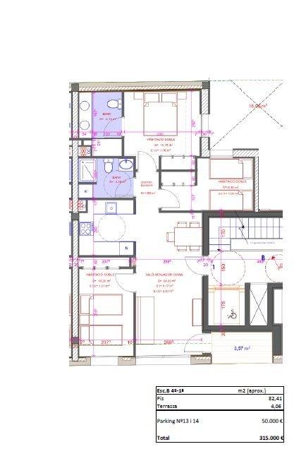 Obra Nova, Pis cèntric de 3 habitacions amb opció a 2 places de pàrquing