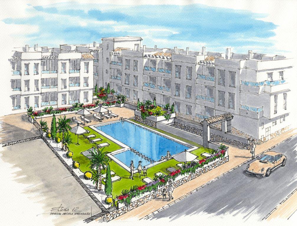 APPARTEMENTS DE NOUVELLE CONSTRUCTION À TORREVIEJA, MEUBLÉS!! (Playa del cura)