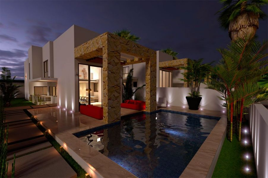 New development of 7 luxury detached Villas with private pool in Torrevieja
