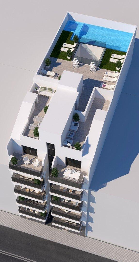 Apartamentos nuevos con piscina en cubierta a 100 m de la playa en torrevieja - imagenInmueble6
