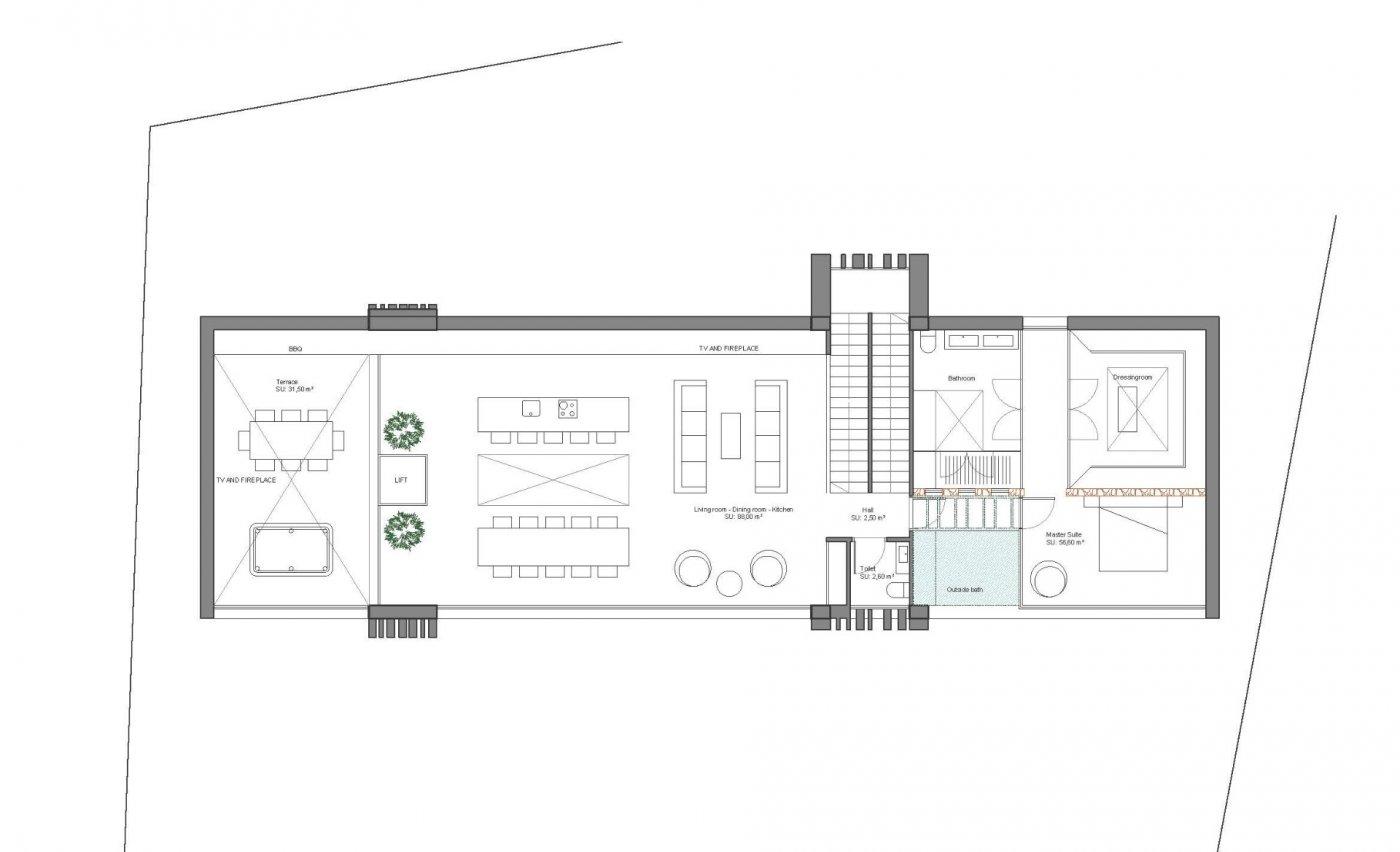 Villa de diseño única y exclusiva  con vistas a guardamar y al mar. - imagenInmueble5