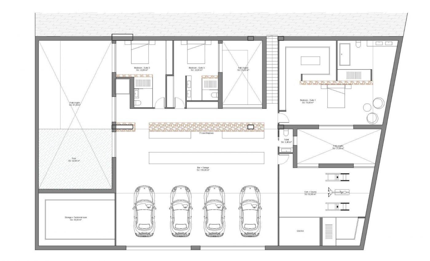 Villa de diseño única y exclusiva  con vistas a guardamar y al mar. - imagenInmueble6