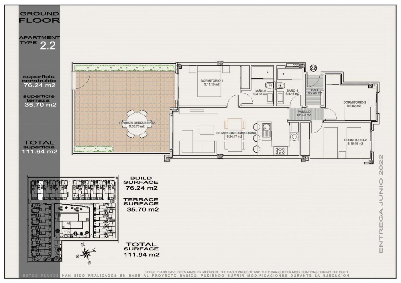 Residencial de obra nueva con 56 apartamentos de 2 y 3 dormitorios a un paso de la playa. - imagenInmueble3