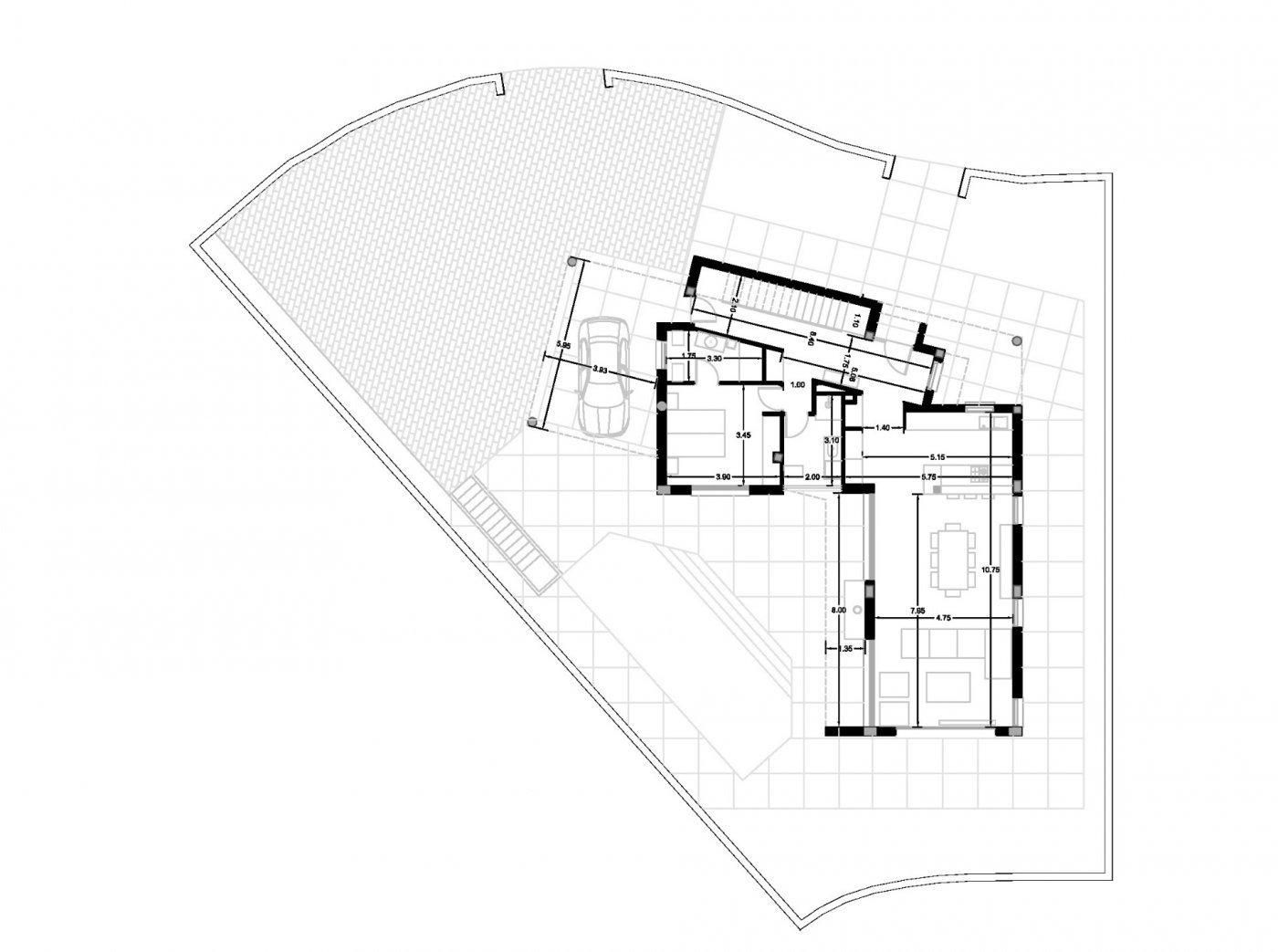Villa de obra nueva de estilo moderno en venta en calpe a 600 m de la playa - imagenInmueble25