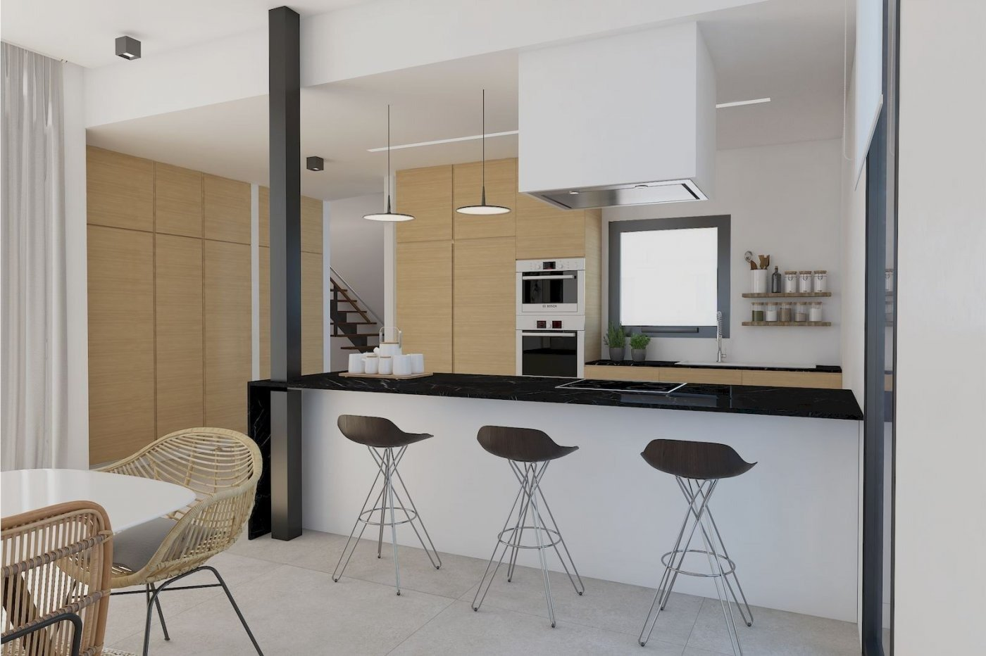 Villa de obra nueva de estilo moderno en venta en calpe a 600 m de la playa - imagenInmueble2