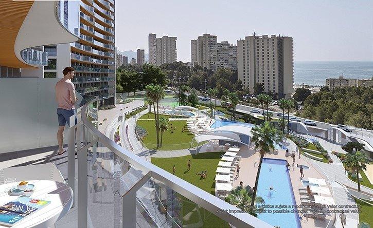 Apartamentos con vistas al mar a 200 metros de playa de poniente de benidorm - imagenInmueble7