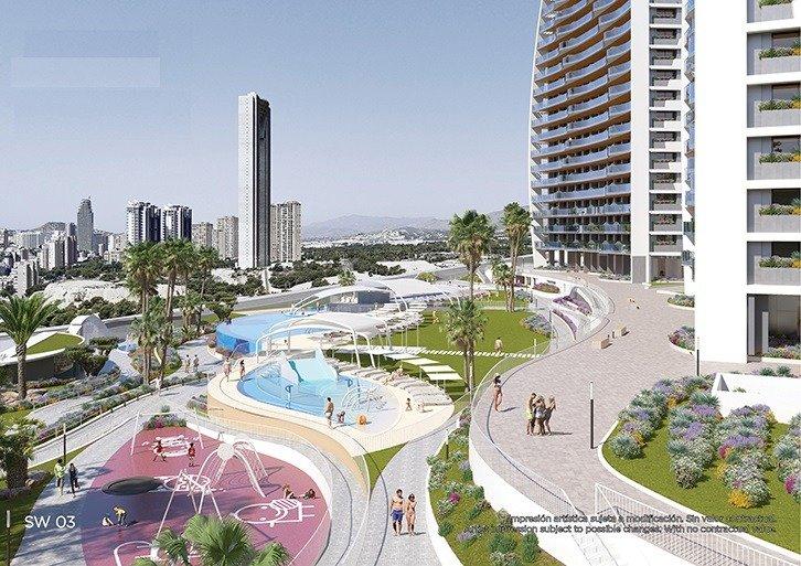Apartamentos con vistas al mar a 200 metros de playa de poniente de benidorm - imagenInmueble15