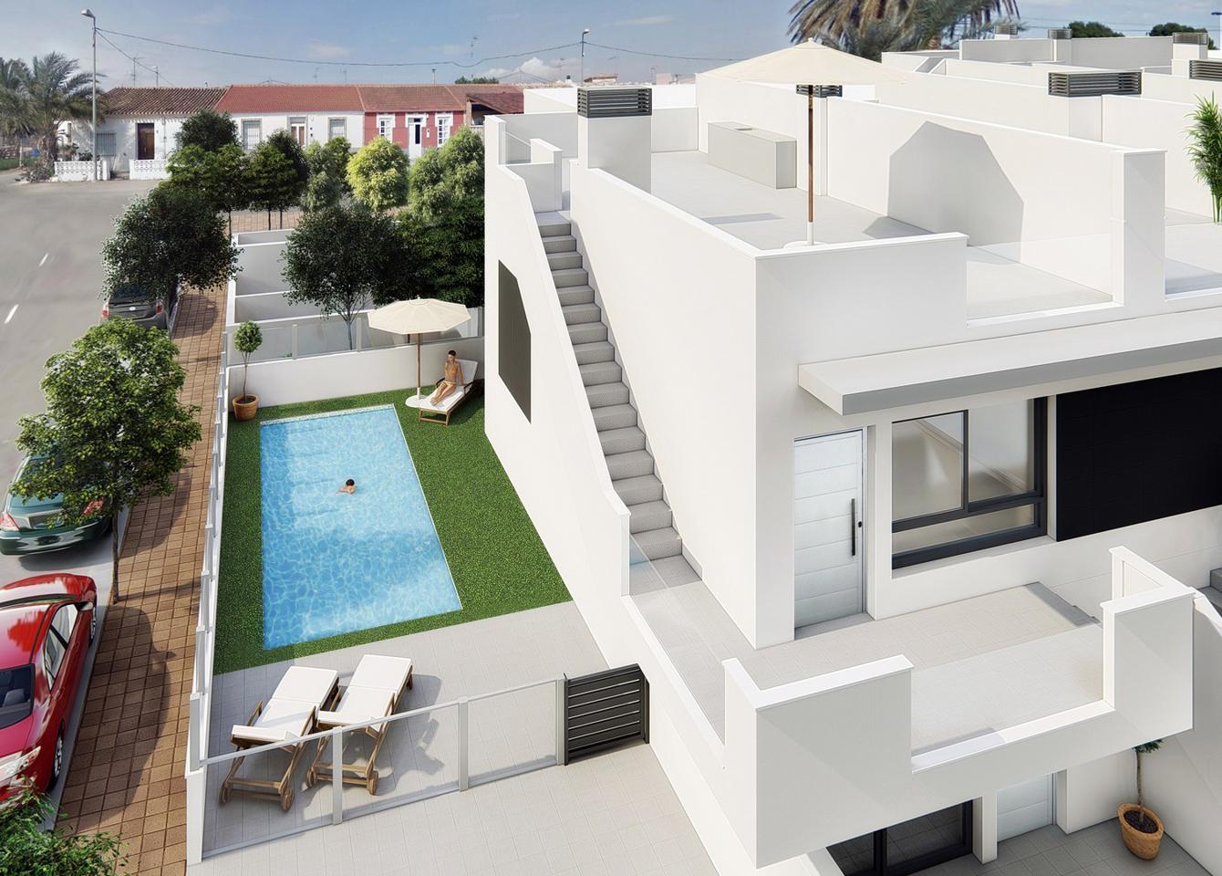 Complejo de 20 bungalows con piscina comunitaria y cocina de verano en lo pagán - imagenInmueble0