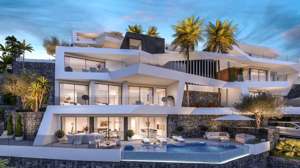 Nuevo proyecto de 4 villas de lujo de estilo moderno con vistas al mar y piscina privada. - imagenInmueble7