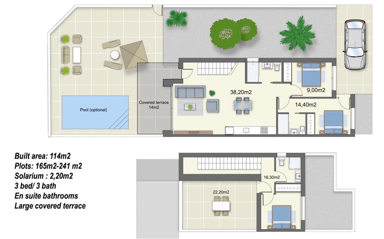 Villas pareadas de obra nueva con piscina opcional - imagenInmueble3