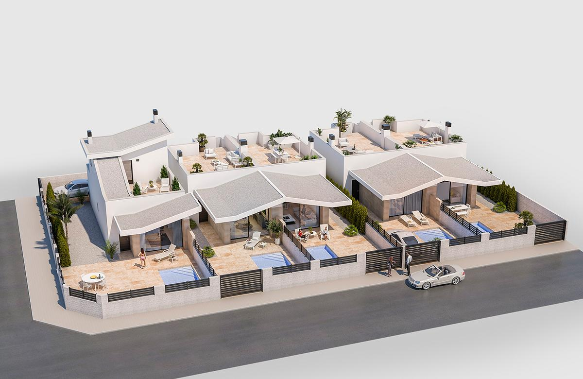 Villas pareadas de obra nueva con piscina opcional - imagenInmueble4