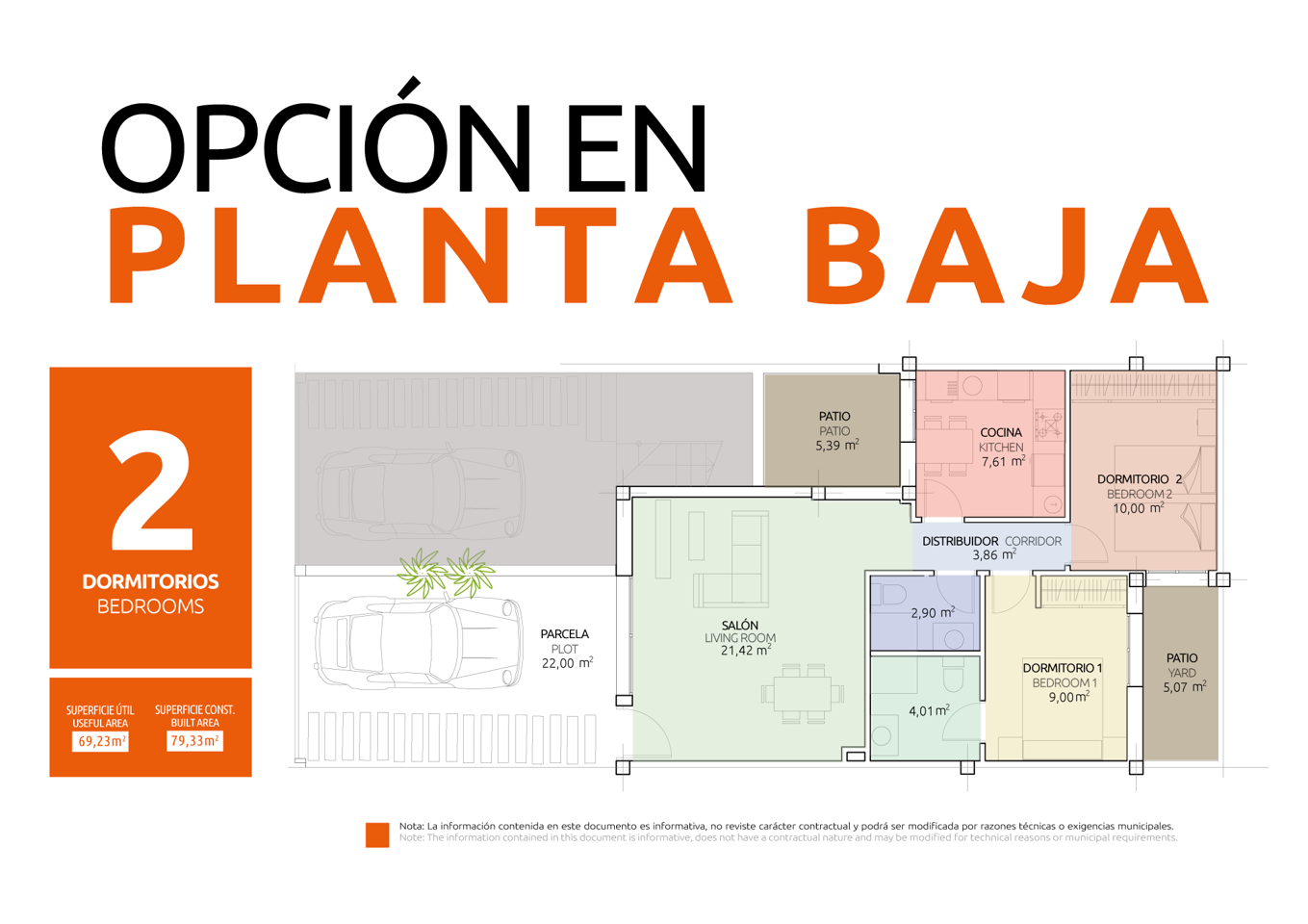 Nuevo concepto de vivienda en una sola planta con diferentes opciones de distribución - imagenInmueble21