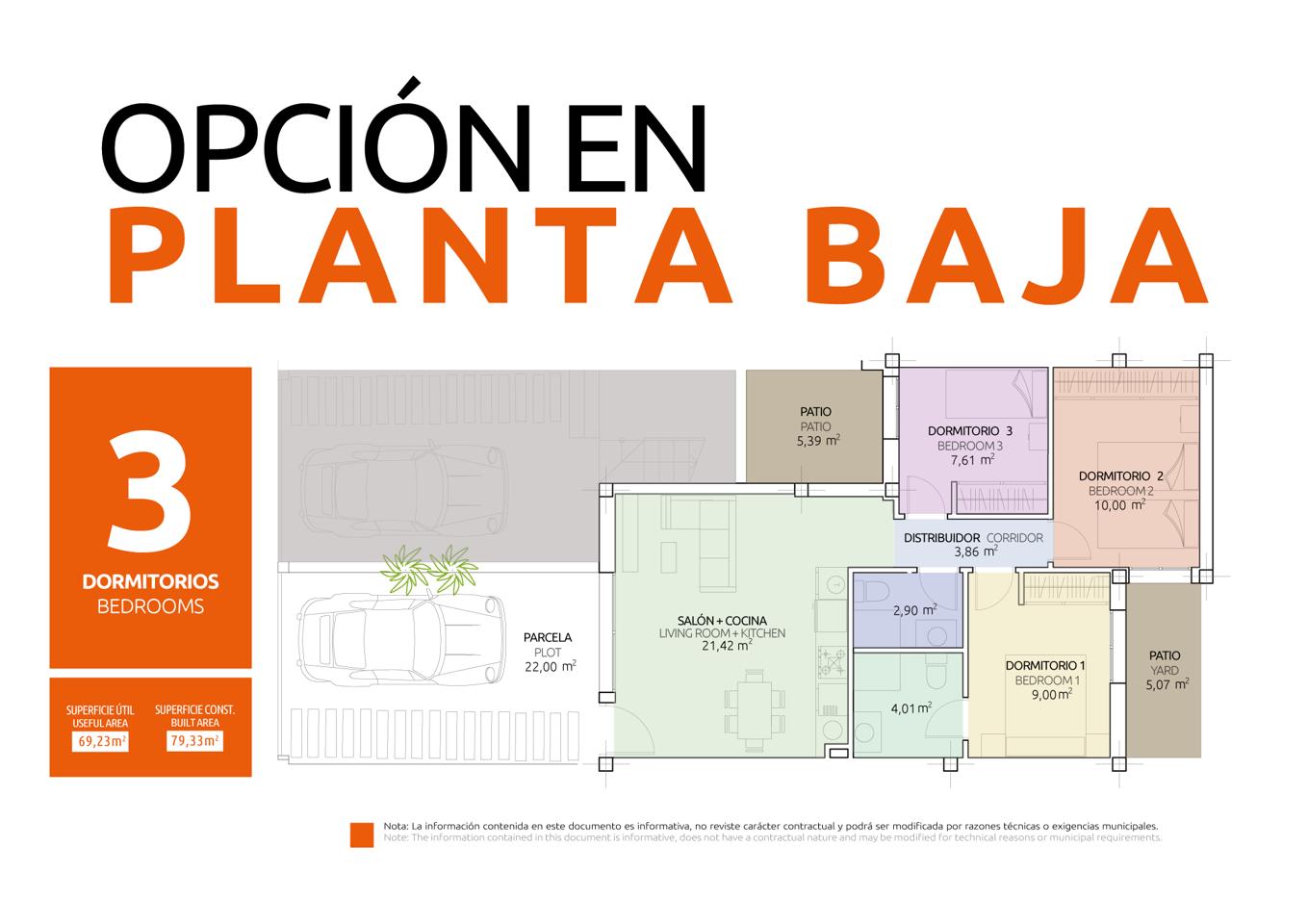 Nuevo concepto de vivienda en una sola planta con diferentes opciones de distribución - imagenInmueble22