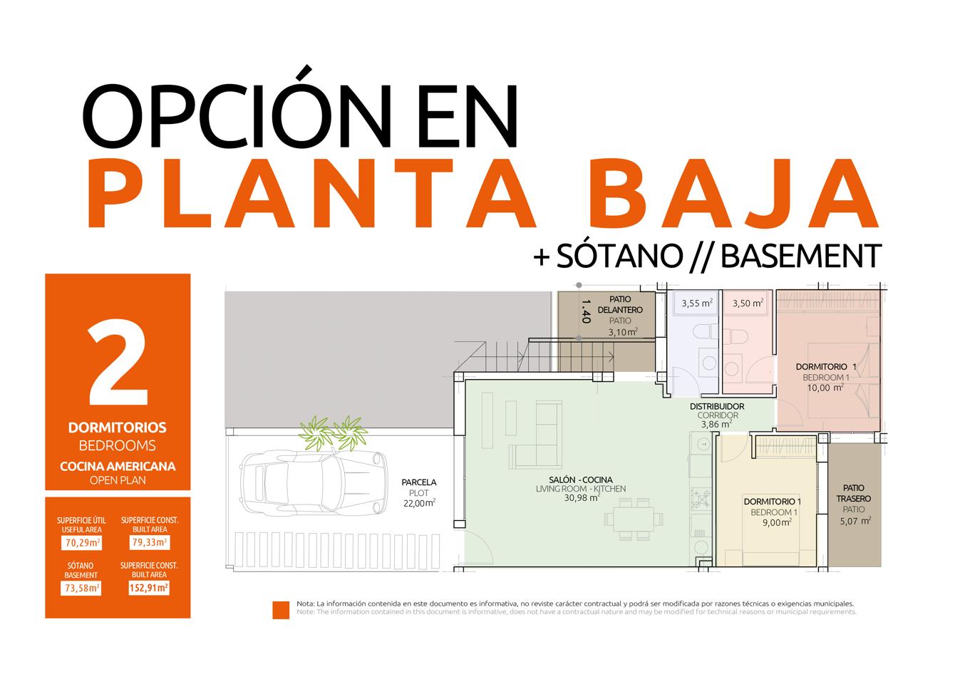 Nuevo concepto de vivienda en una sola planta con diferentes opciones de distribución - imagenInmueble24