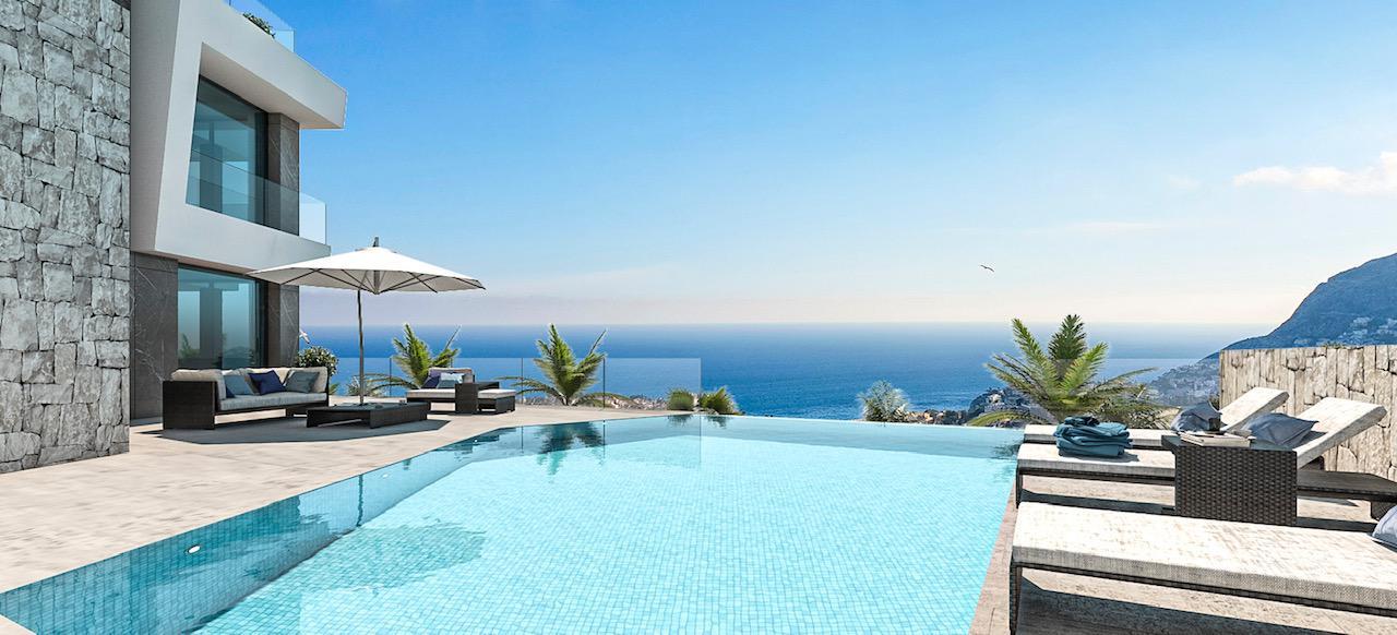 Nueva promocion en calpe de 6 villas de lujo modernas e independientes con vistas al mar - imagenInmueble0