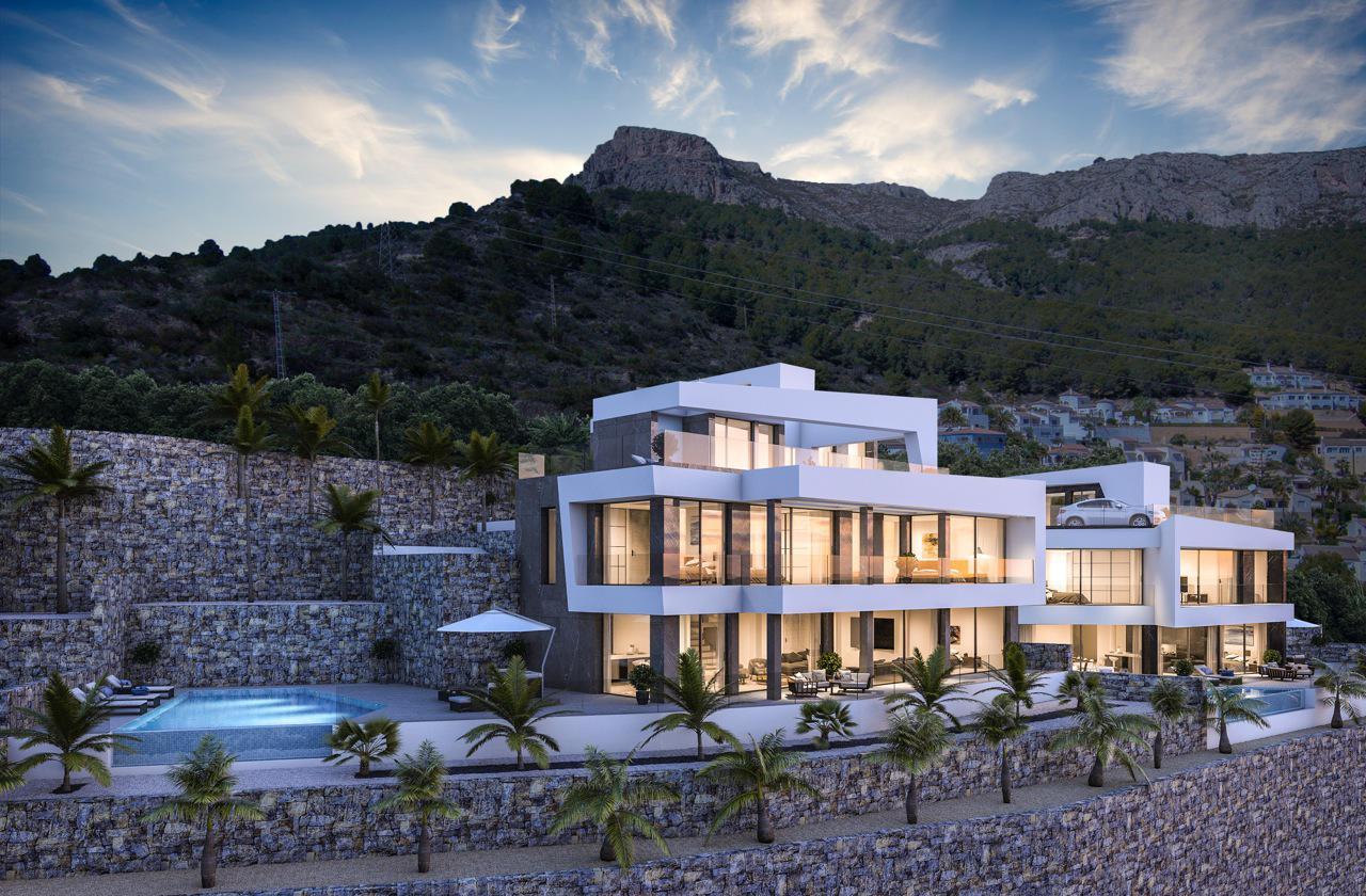 Nueva promocion en calpe de 6 villas de lujo modernas e independientes con vistas al mar - imagenInmueble1