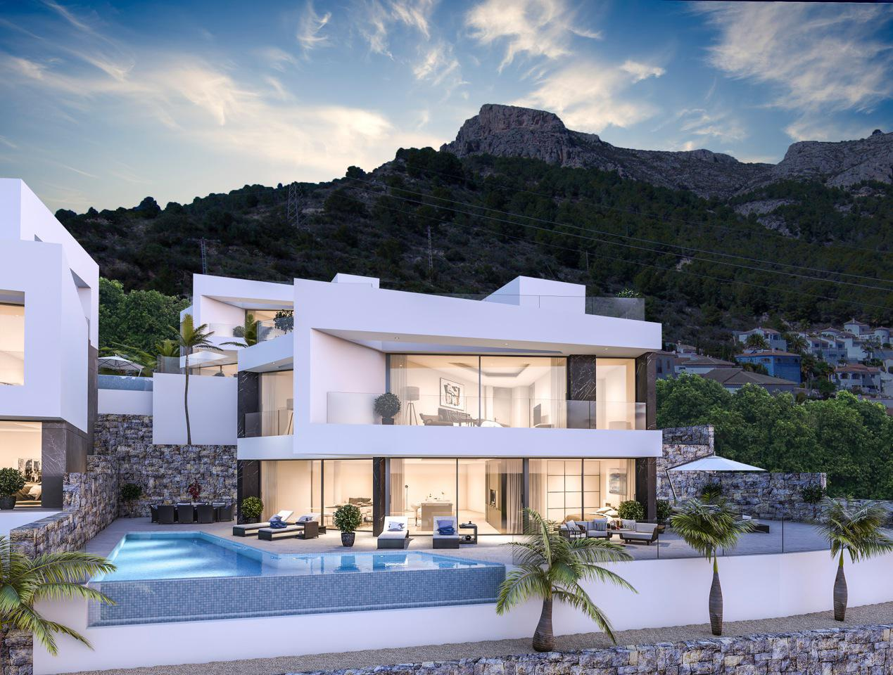 Nueva promocion en calpe de 6 villas de lujo modernas e independientes con vistas al mar - imagenInmueble2