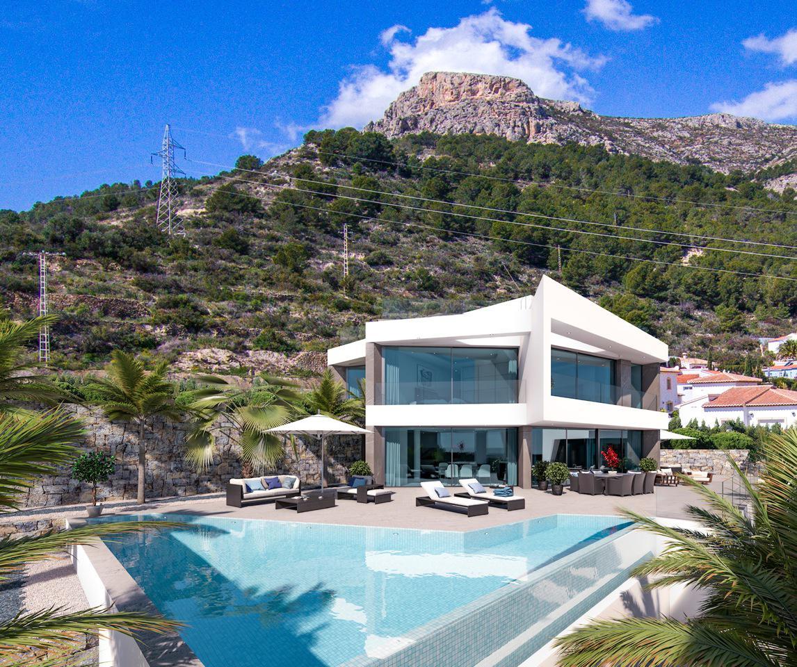 Nueva promocion en calpe de 6 villas de lujo modernas e independientes con vistas al mar - imagenInmueble6