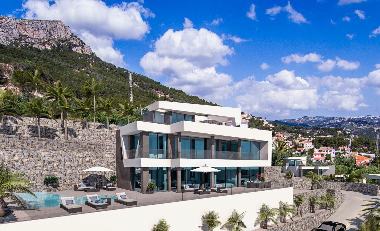 Nueva promocion en calpe de 6 villas de lujo modernas e independientes con vistas al mar - imagenInmueble7