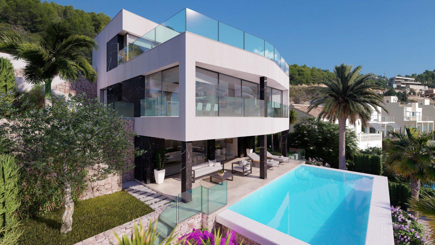 Casa de lujo de 3 plantas con maravillosas vistas panorámicas al mar en calpe - imagenInmueble1