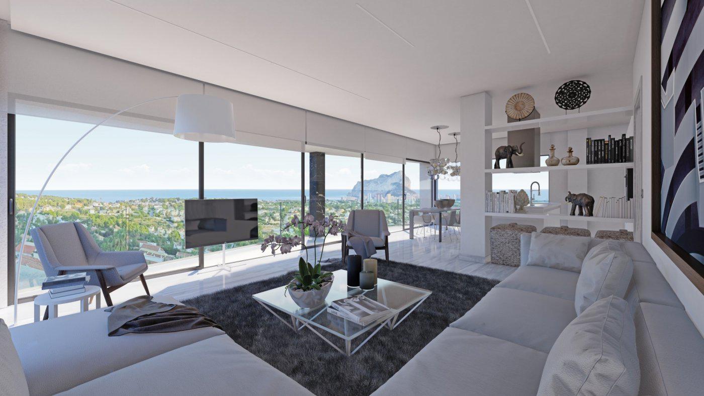 Casa de lujo de 3 plantas con maravillosas vistas panorámicas al mar en calpe - imagenInmueble3