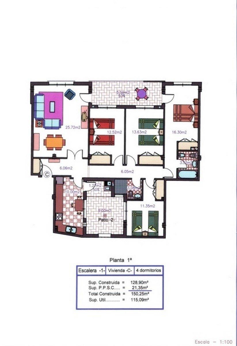 Apartamento 4 dormitorios, 2 baños, patio, terraza en san pedro del pinatar - imagenInmueble21