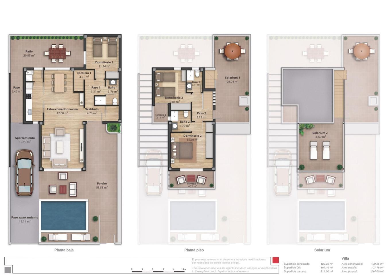 Complejo de lujo de 24 nuevas villas adosadas con piscina privada y plaza de aparcamiento - imagenInmueble21