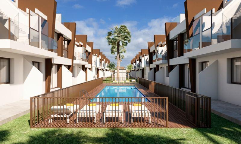 Residencial con bungalows con piscina comunitaria en san pedro del pinatar!!! - imagenInmueble0